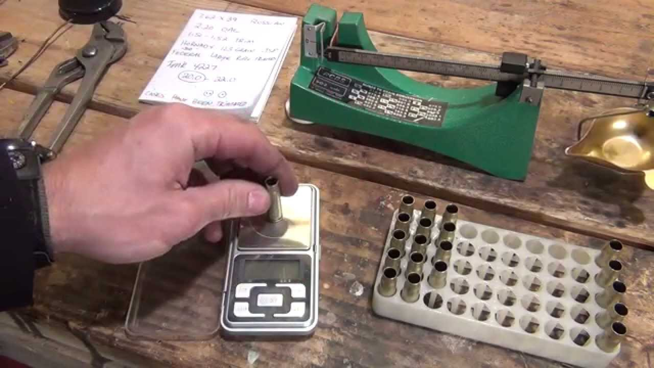 Reloading 20 rounds of 7.62X39 on a single stage press from start to finish (long) - HD