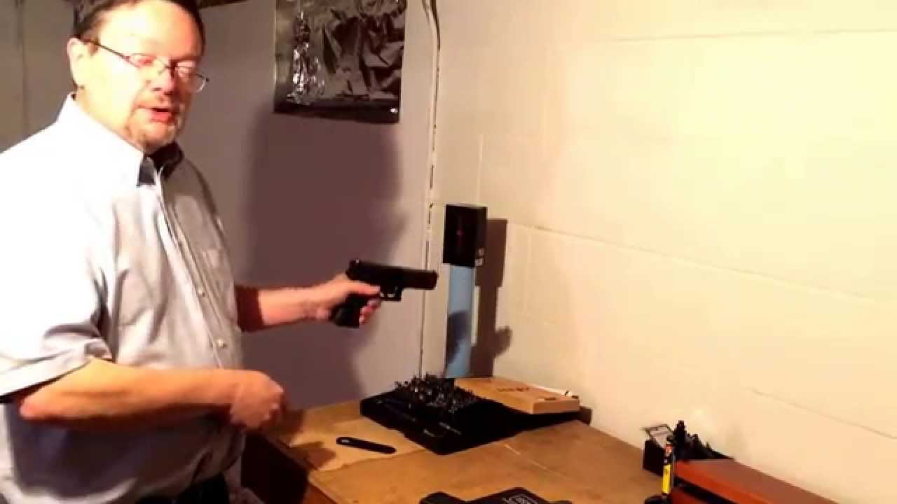 Using a Crimson Trace Laser on a Glock as a training tool for handgun shooting
