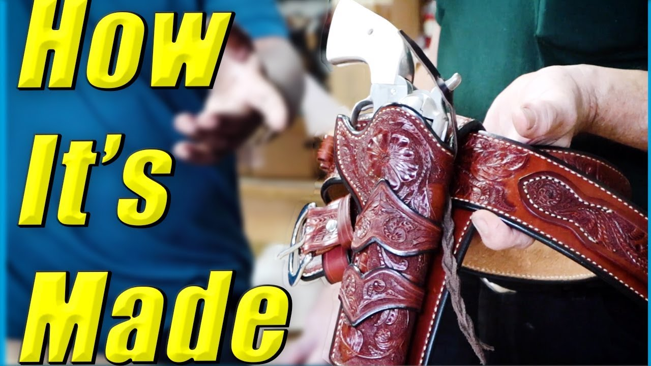 Western Cowboy Fast Draw Rig // Leather Holster // How It's Made
