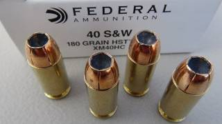 .40 Federal HST 180 gr Ammo Gel Test
