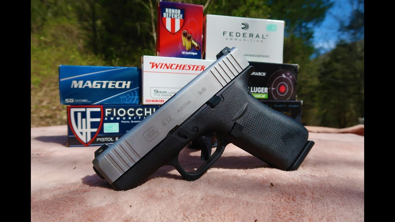 Glock 43X ammo testing!!!