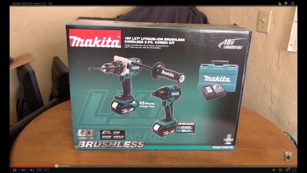 Makita (XT257TB) 18V LXT Brushless Motor Combo Kit - HD