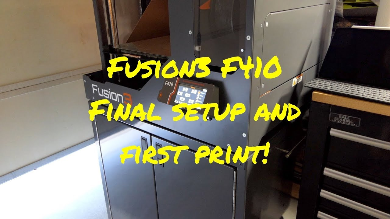 Fusion3 F410 Final Setup and First Print