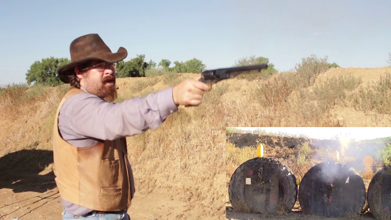 Testing the Johnson and Dows in the Uberti 1860