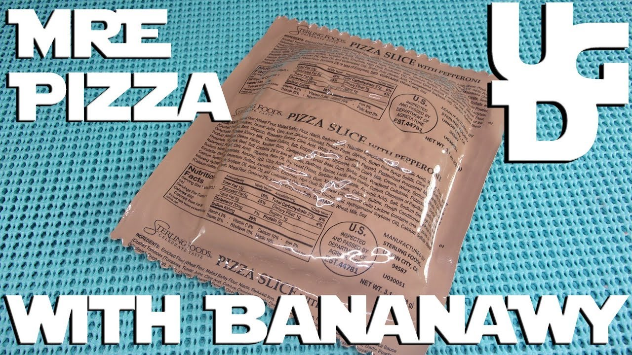 MRE Pizza with Pepperoni Review with BananaWy