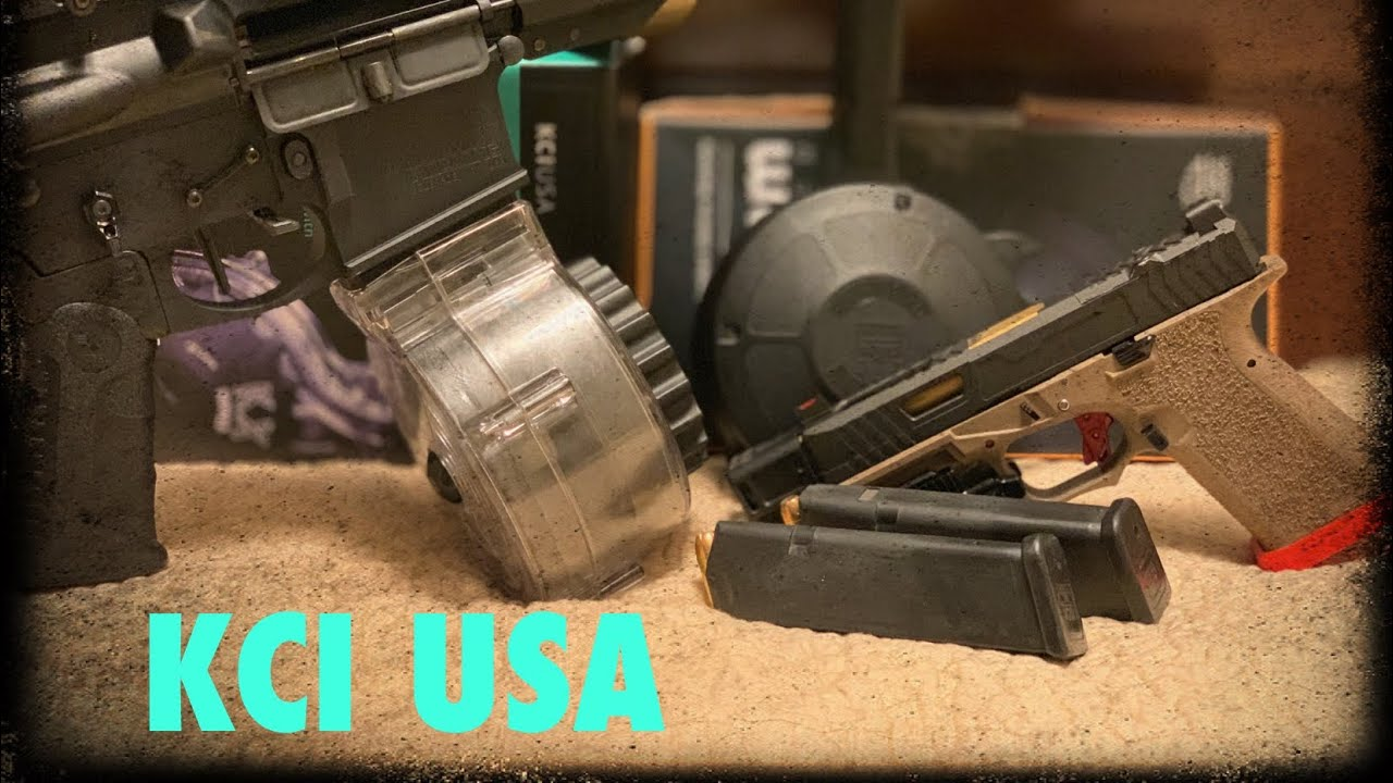 KCI USA   glock mags and 50 rds drums!