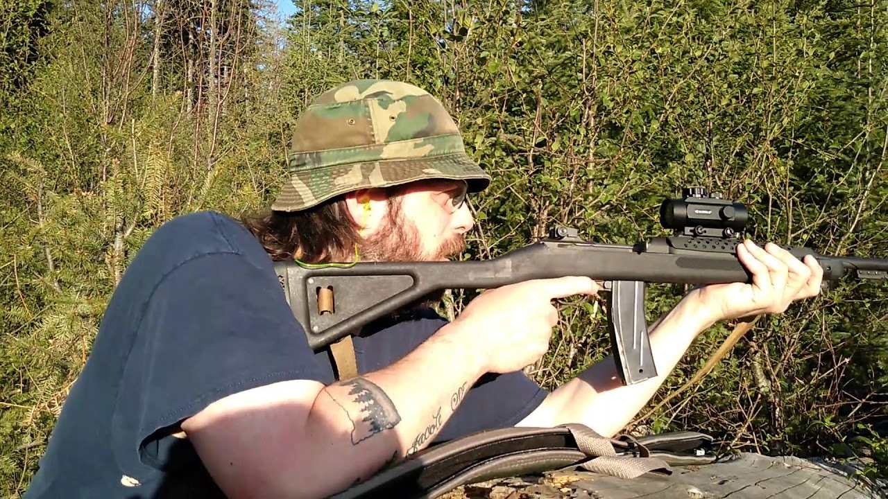 M1 Carbine Custom Red Dot Mount Range Test