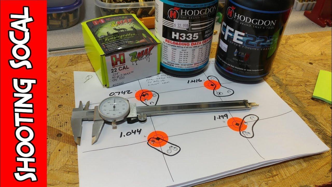 Reloading 223 Hornady 62gr CFE223 | 40gr Neck Only resized results