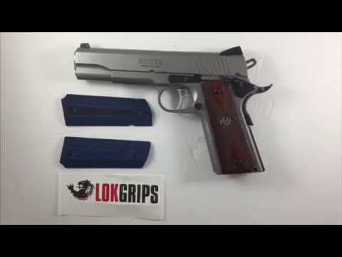 Installing grips on a 1911 using Lok Grips