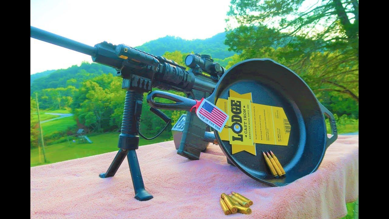 AR-15 VS Cast Iron Skillets