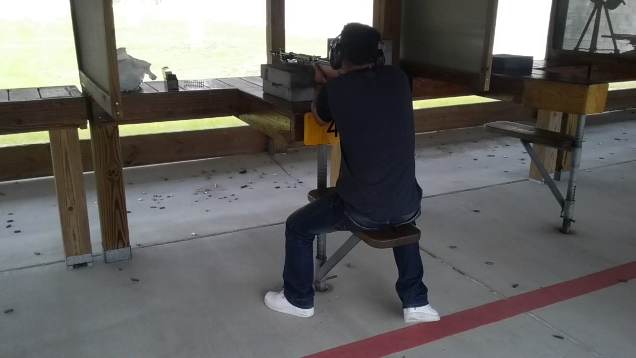 My oldest son shooting the Yugo SKS