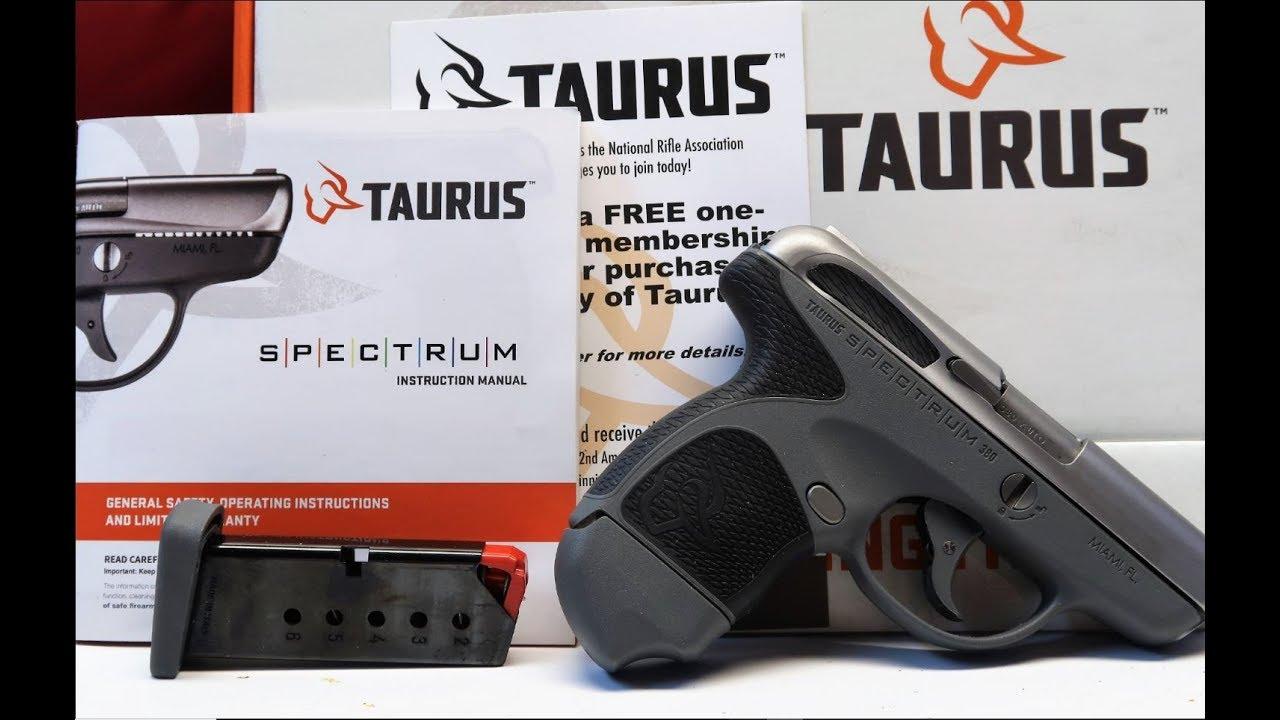TAURUS SPECTRUM .380 UNBOXING