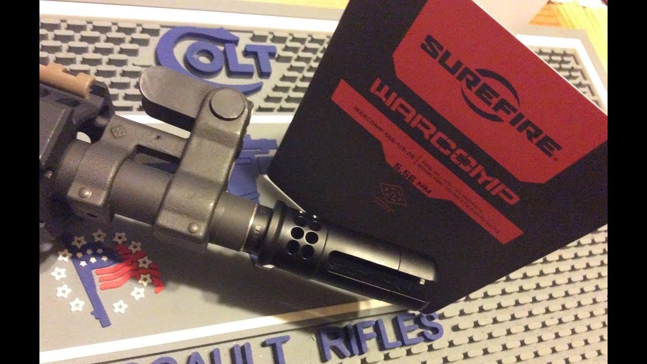 Surefire Warcomp   Colt LE6945 Mk18 AR Pistol Project