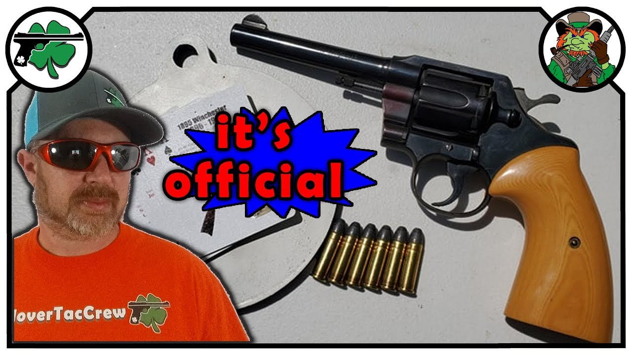 Colt Official Police Revolver - April 2019 Patreon Lawn Chair Pop Replay (16:40 Time Stamp)