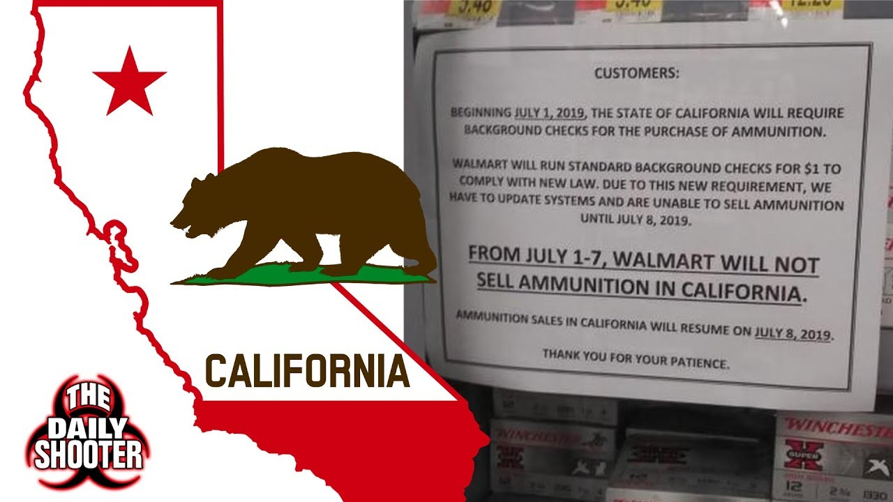 California Ammo Law Update Walmart Etc.  What's Going To Happen