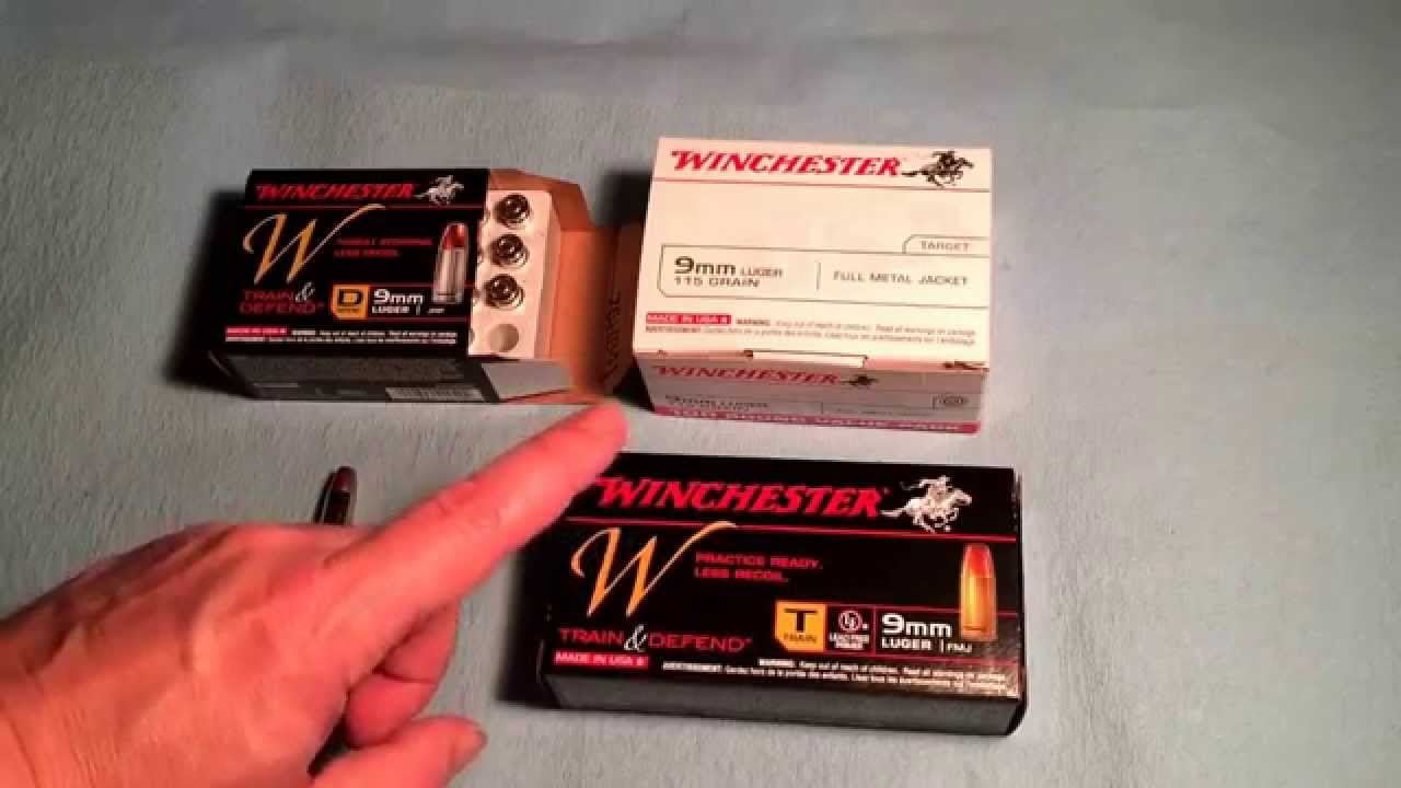 9mm ammo and Winchester Train & Defend