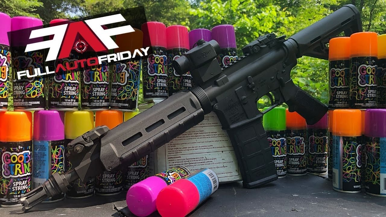 Full Auto Friday! AR-15 vs Silly String!