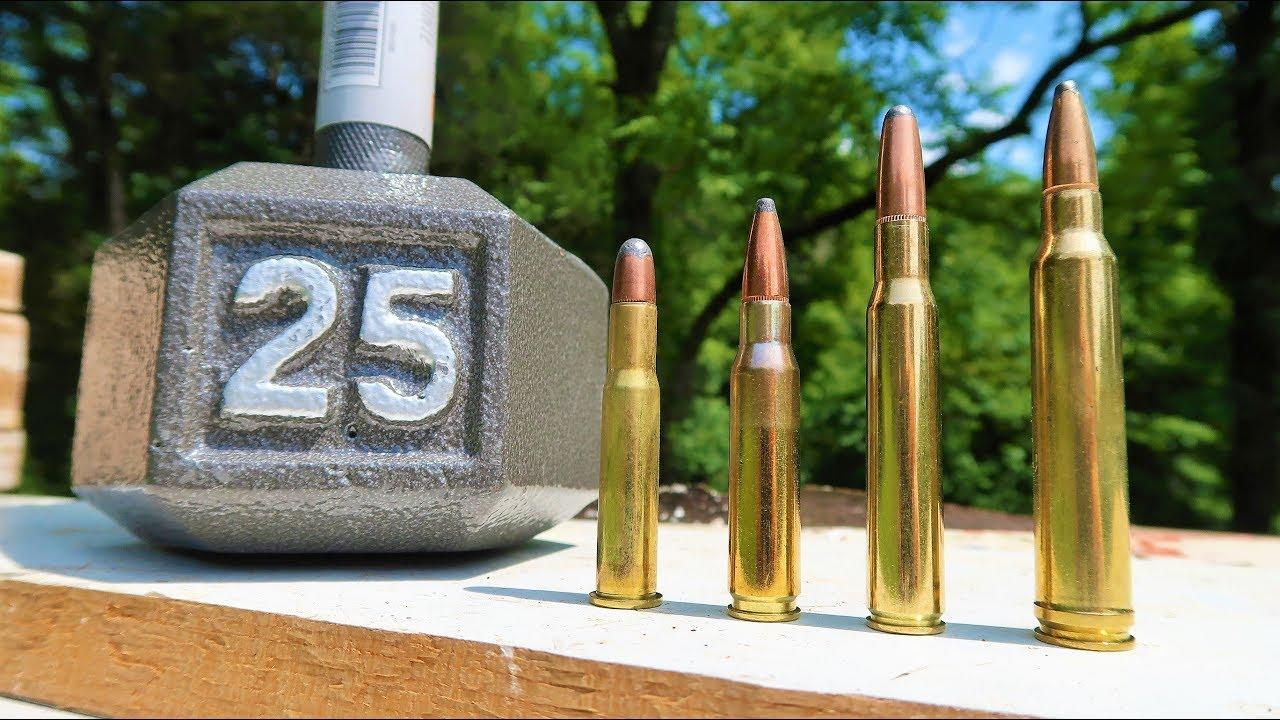 Shooting a Dumbbell - 30-30 vs .308 vs 30-06 vs 300 win mag