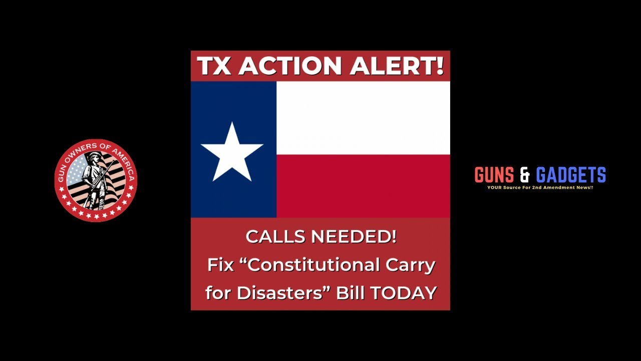 Call To Action: Texas Constitutional Carry For Disasters
