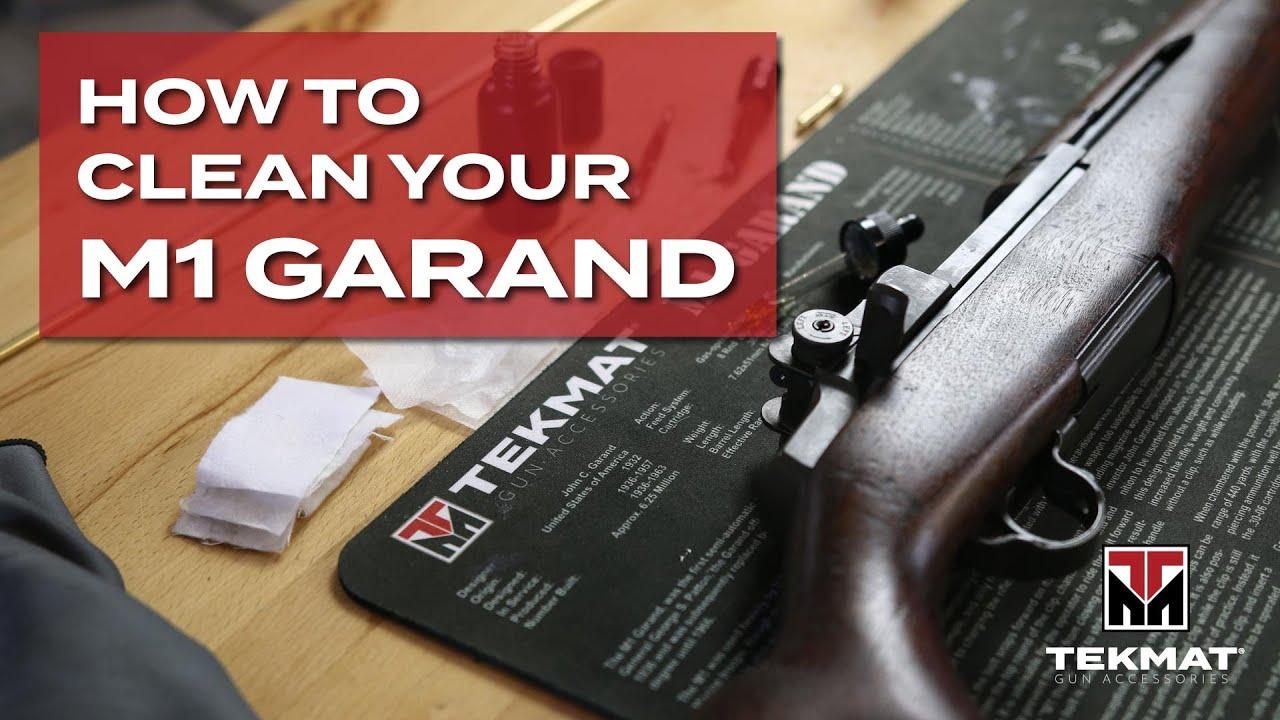 How to Clean an M1 Garand   TekMat   Basic Gun Cleaning
