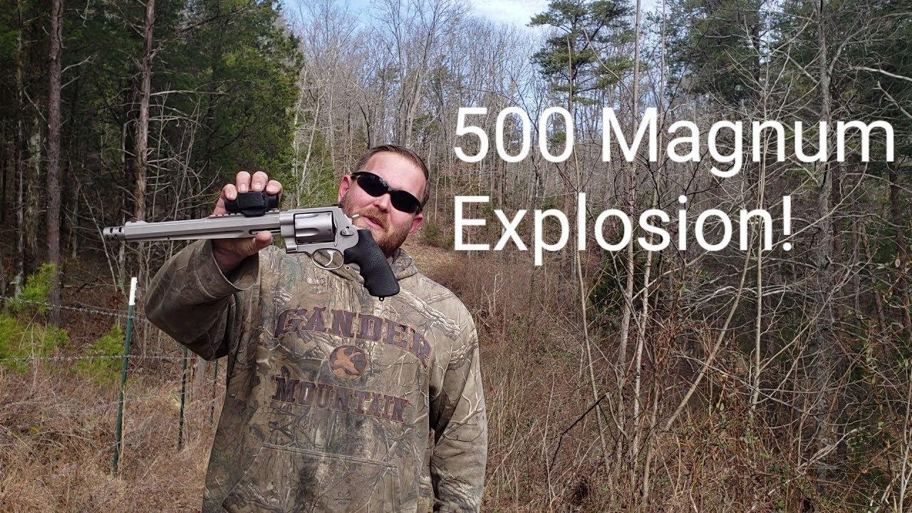 Blowing Up Bad 500 Magnum Ammo! Explosion at 100 Yards! Primer struck!