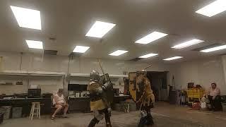 Sword and Shield Fighting- 5/30/19 - Duke Tim vs Vassilis