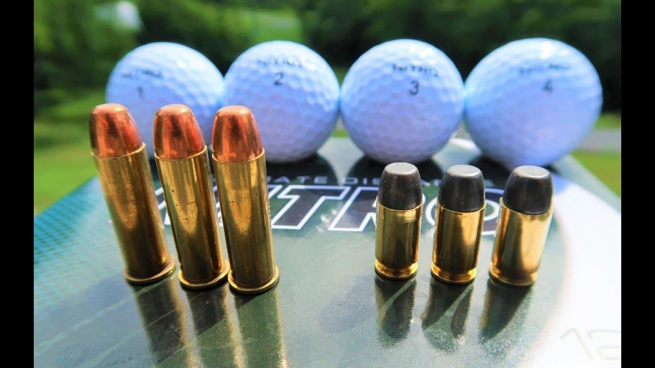 .38 vs .380 - Shooting Golf Balls!!!