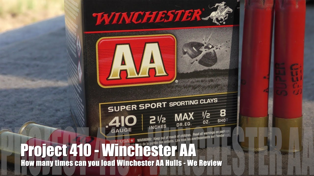 How Many Times Can You Load Winchester AA - PROJECT 410  EDITION! WE REVIEW!!!