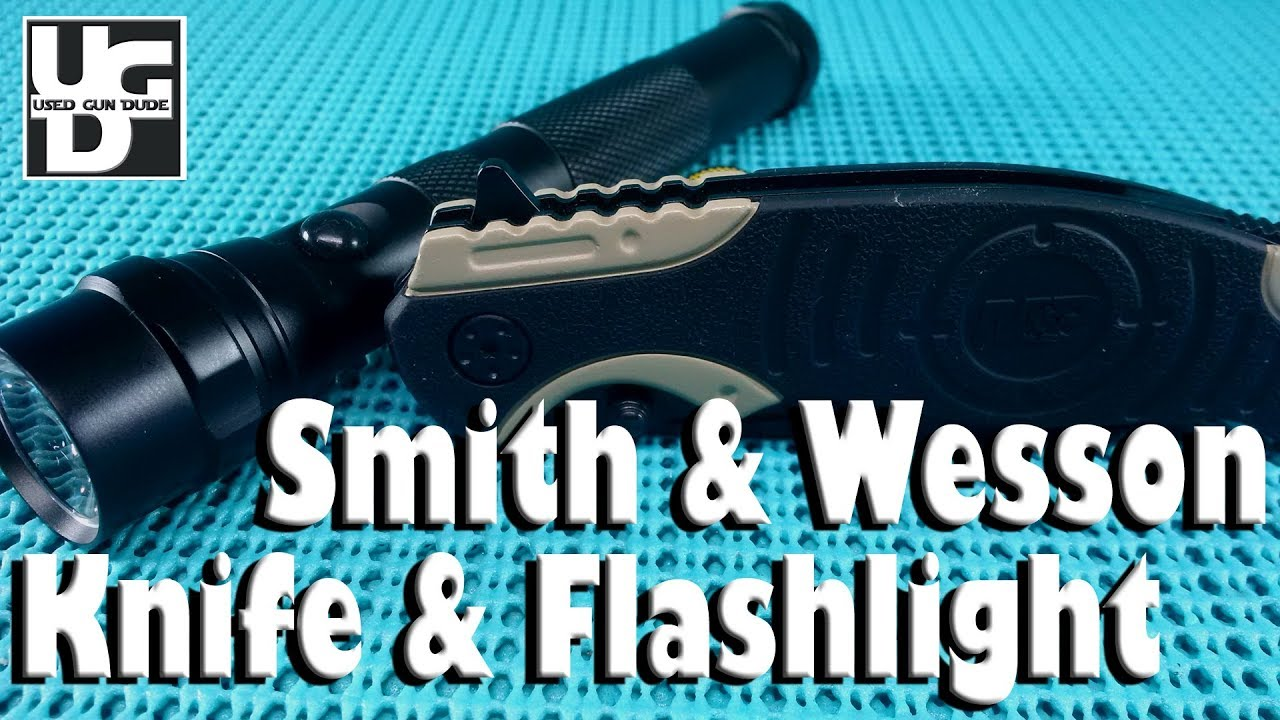 Smith & Wesson M&P Knife & Flashlight Combo from the Academy Sports, Super Cheap
