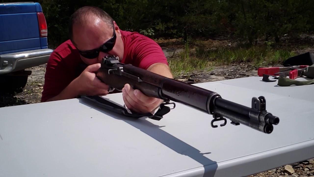 M1 Garand Firing in Slow Mo 960 fps