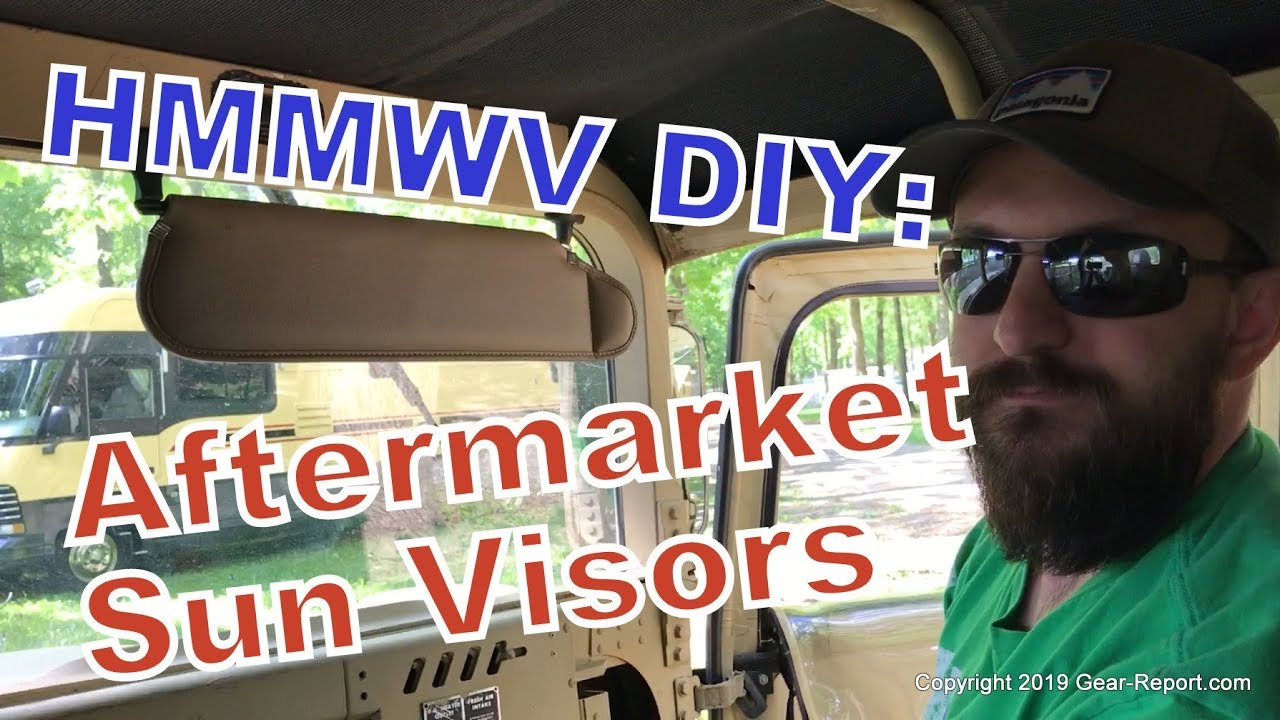 How To Install Aftermarket Sun Visors in a Military HMMWV