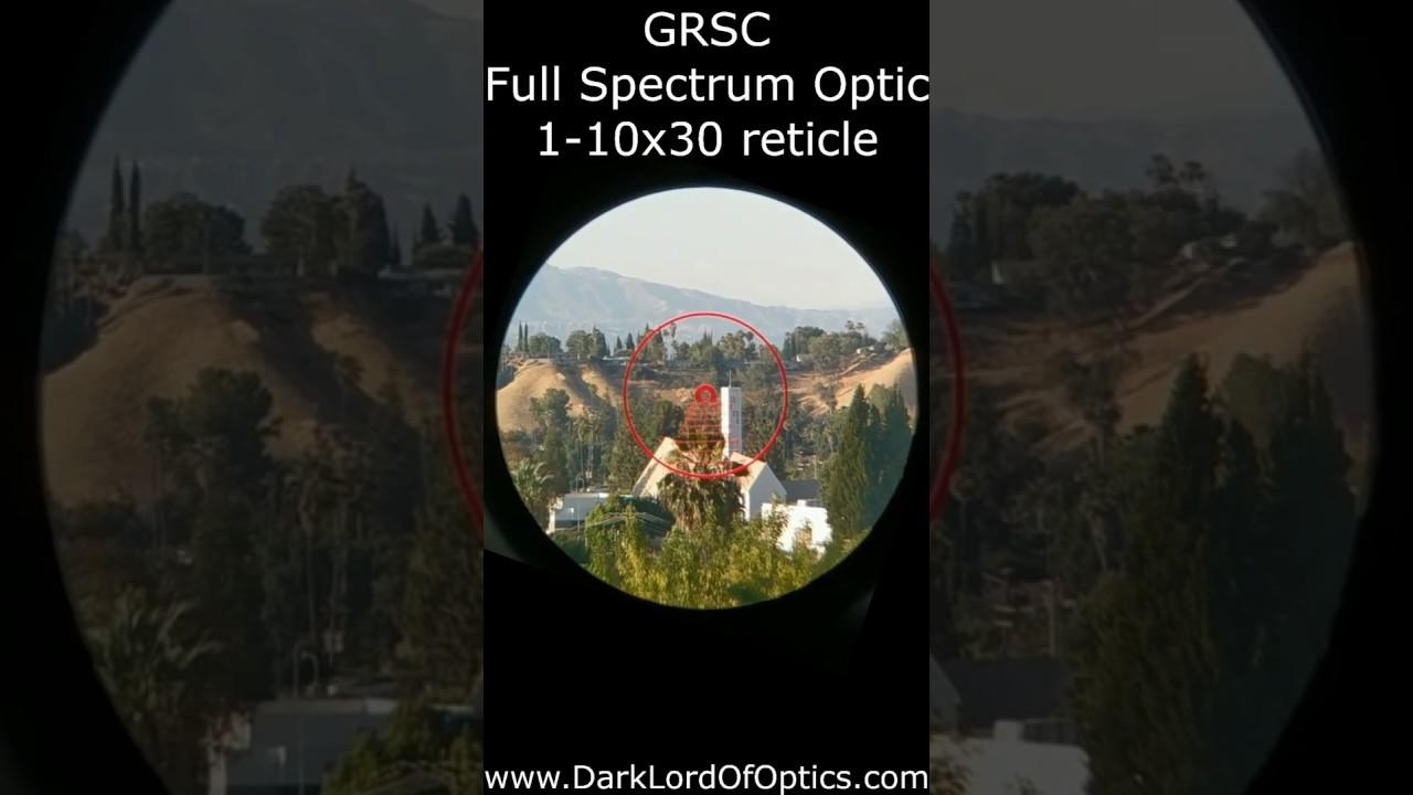 GRSC FSO riflescope reticle
