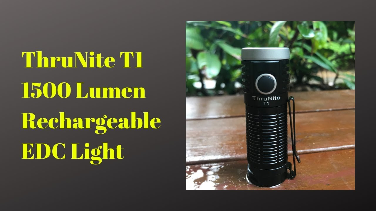 ThruNite T1 1,500 Lumen Rechargeable EDC Light