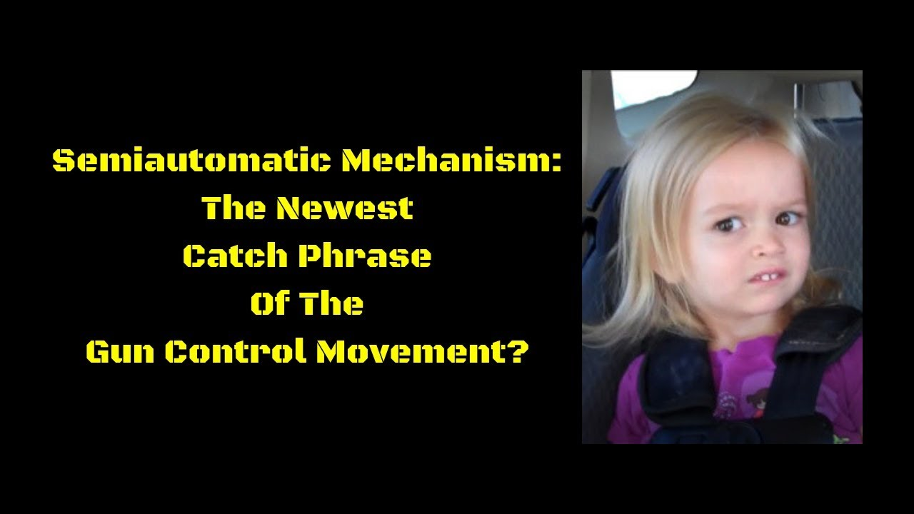Semiautomatic Mechanism: The Newest Catch Phrase Of The Gun Control Movement?