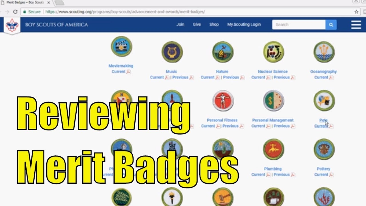 Reviewing Boy Scouts of America - Current Merit Badges - Part 5 of 6