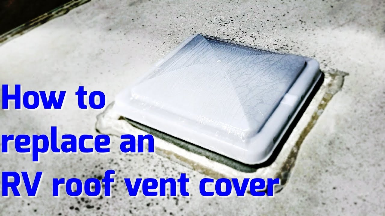 Easiest how to replace an RV vent cover. Step by step replacing RV vent cover