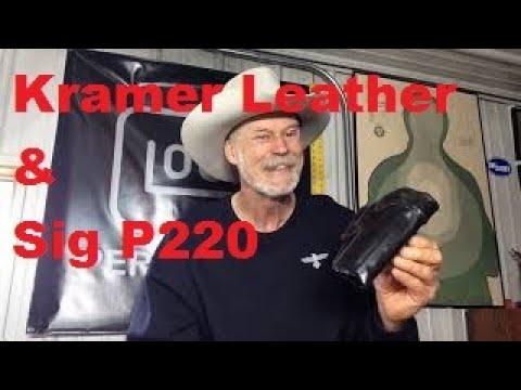 Kramer Leather Vertical Scabbard & SIG P220 10MM