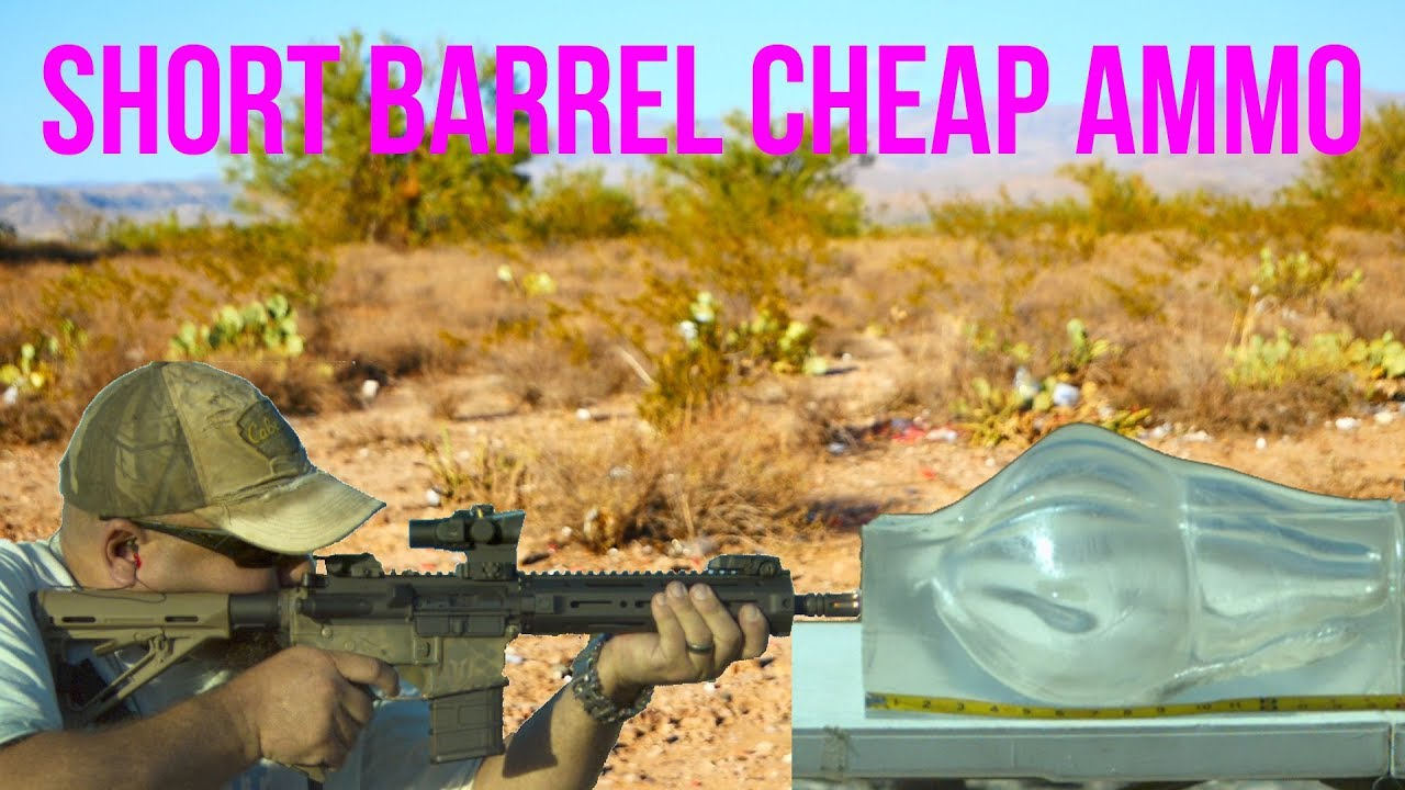 Short Barrel .223 Rem 55gr FMJ Hand Load Gel Test