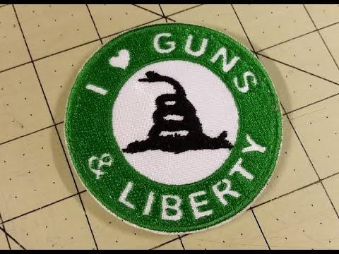 Patch: I Love Guns & Liberty