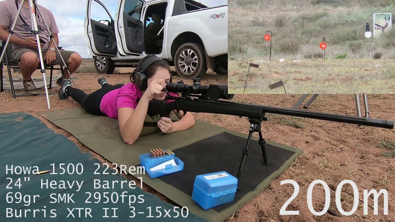 Shooting her new rifle for the 1st time! 223 out to 500m