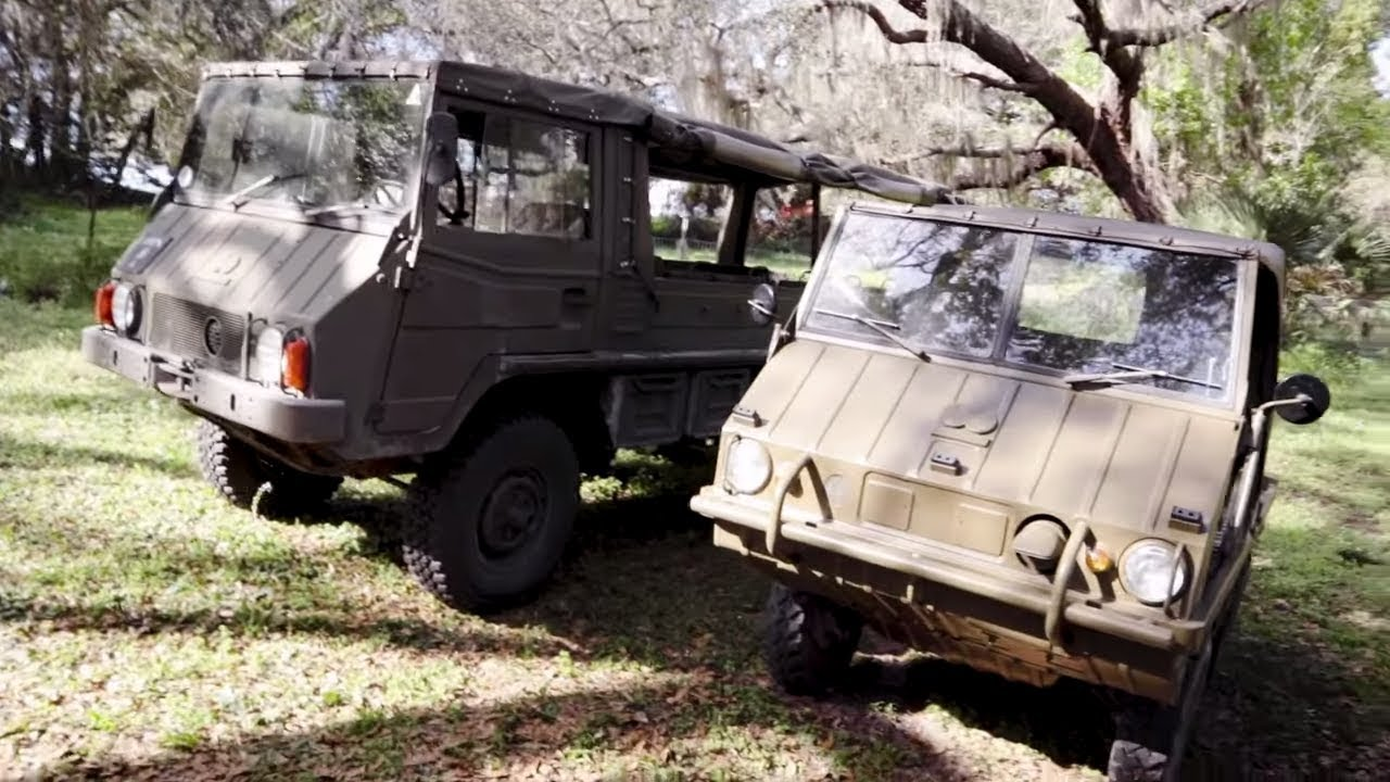 Pinzgauer & Haflinger 4x4 Military vehicles With Walter