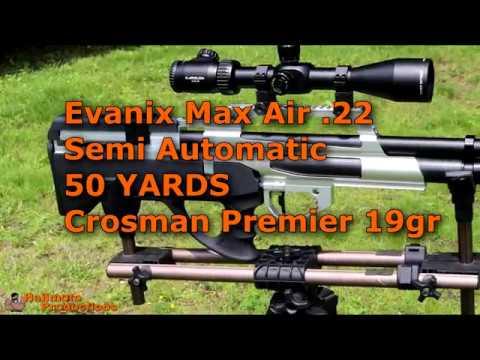 EVANIX Max Air .22: 50 YRD Accuracy