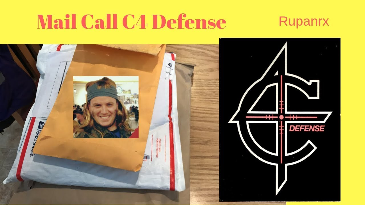 C4 Defense PVC Patch Mail call