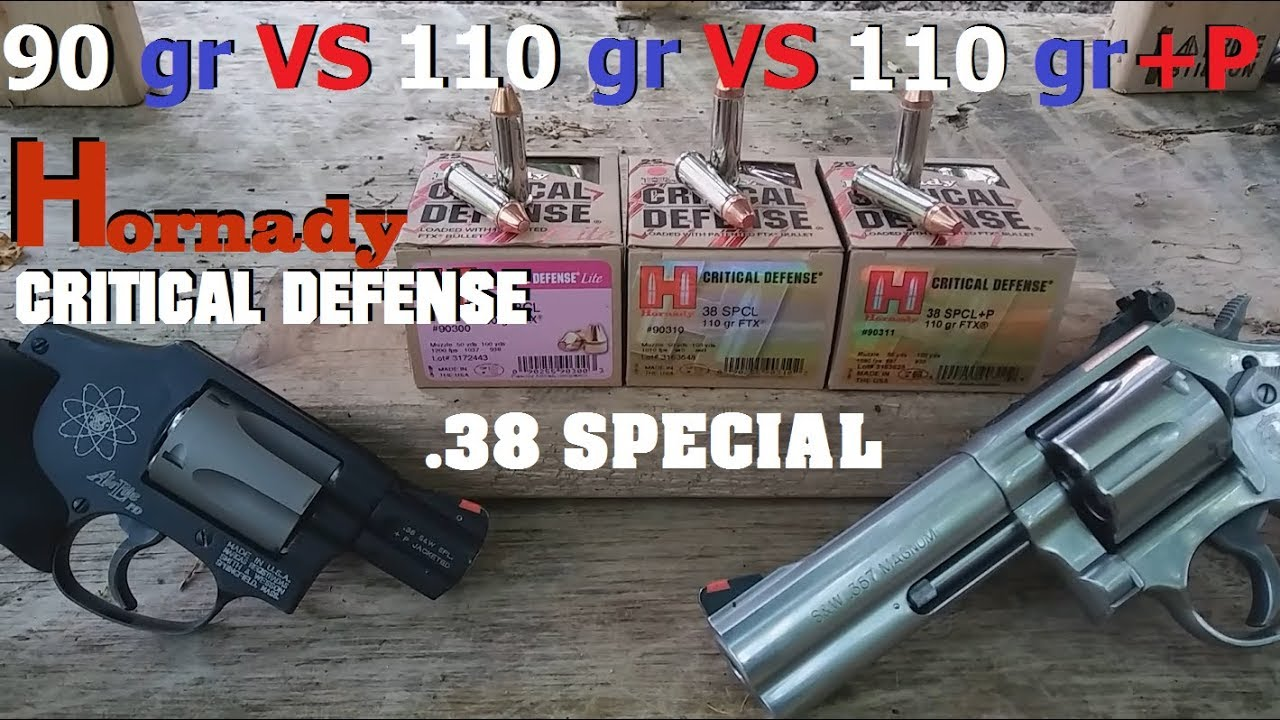 Hornady Critical Defense .38 Special - All Loads Tested - 2
