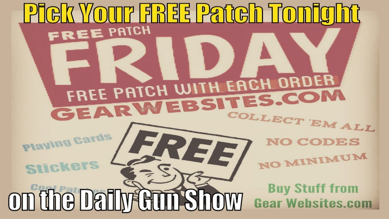 Pick Your Own FREE Patch Friday !! June 14 on the Gear Websites store