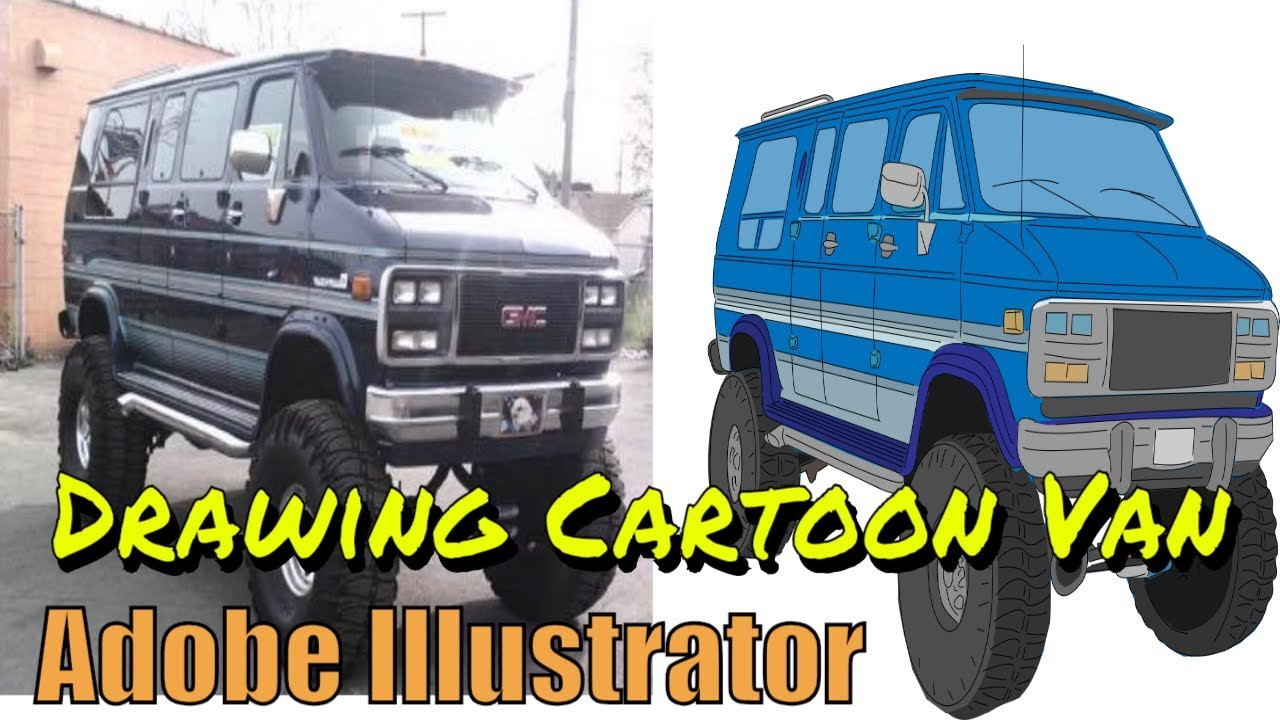 Drawing the Tater Van - Adobe Illustrator to make a Van Cartoon