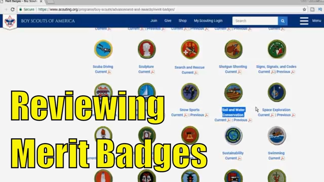 Reviewing Boy Scouts of America - Current Merit Badges - Part 6 of 6