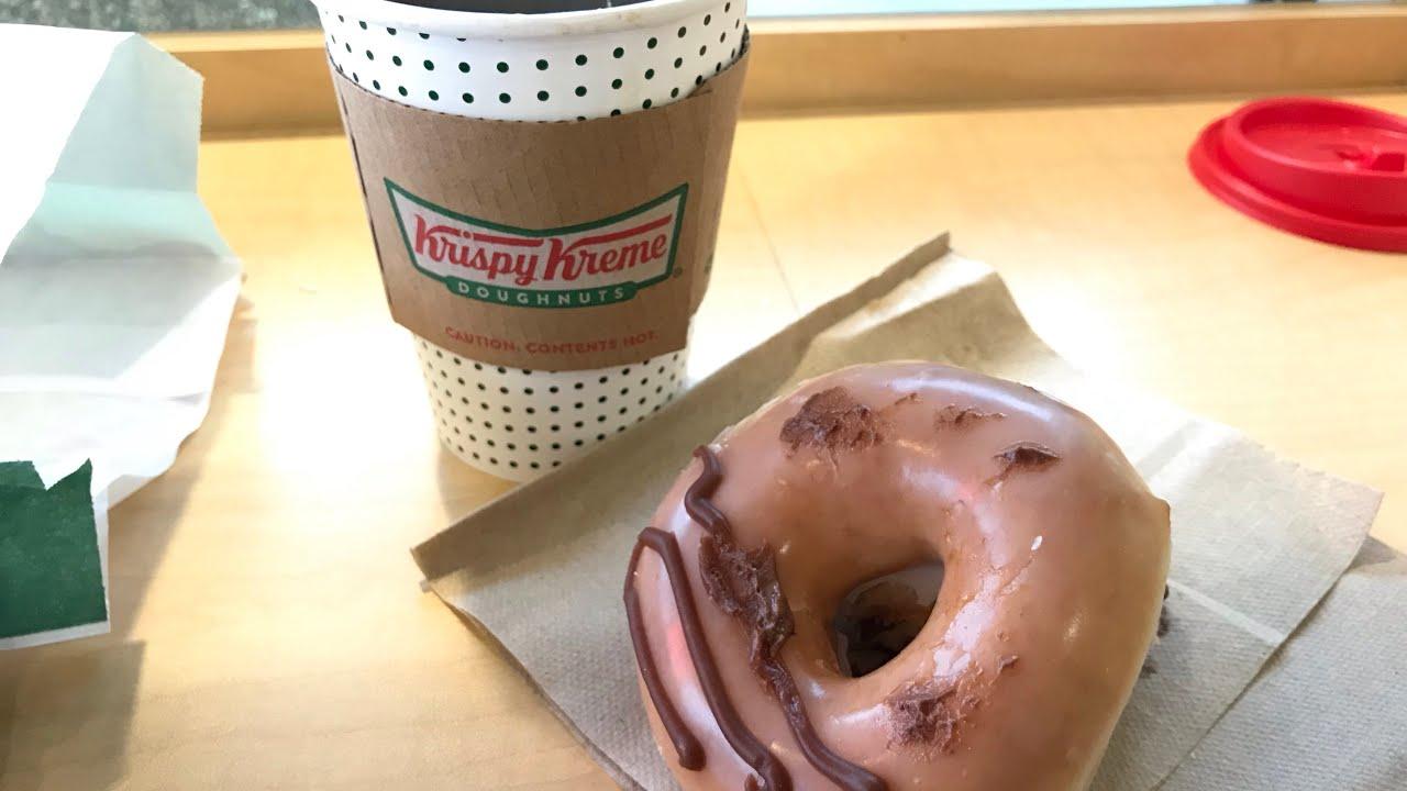 Krispy Kreme Chocolate Kreme Filled Donut/1937 Bold Coffee Taste Test!