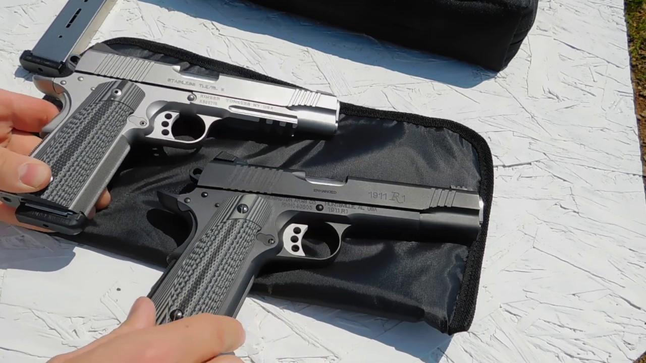 Kimber Custom TLE/RL vs Remington R1 Enhanced 1911 Review Pt 1