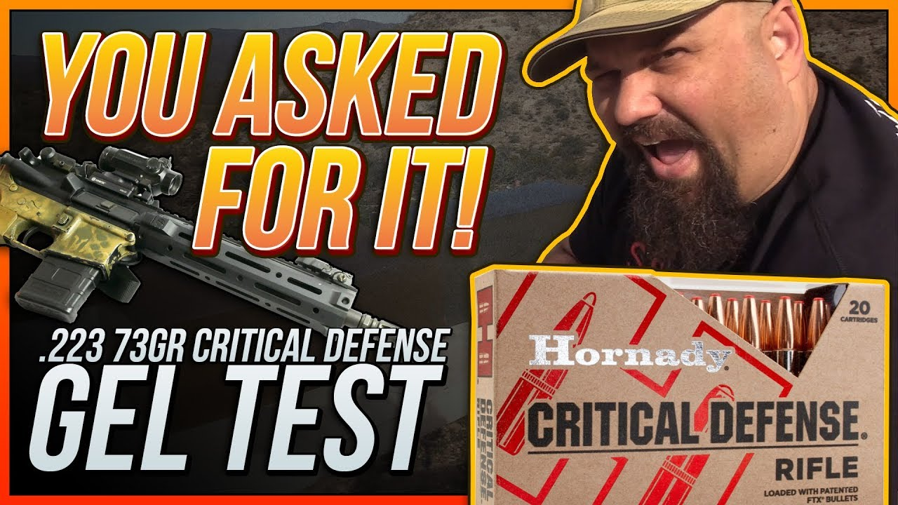 You Asked For It! 73gr Critical Defense 16 Inch Gel Test